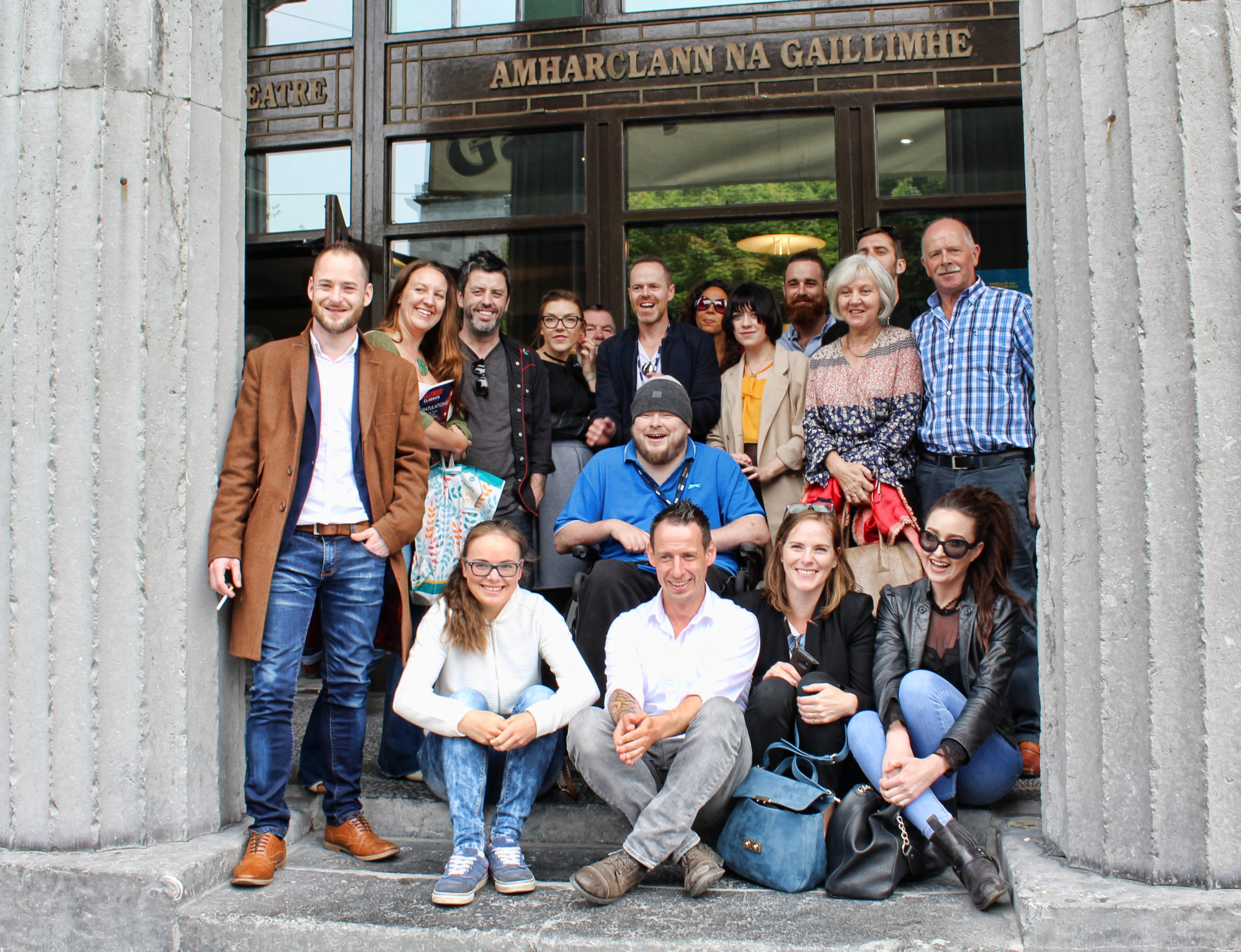 Tristan Heanue, Paddy Slattery and the team behind the short film A Break in the Clouds