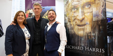 (L-R) Ciara Sugrue (Failte Ireland) Jamie Harris; Zeb Moore (Richard Harris International Film Festival)