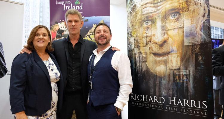 (L-R) Ciara Sugrue (Failte Ireland) Jamie Harris; Zeb Moore (Richard Harris International Film Festival)