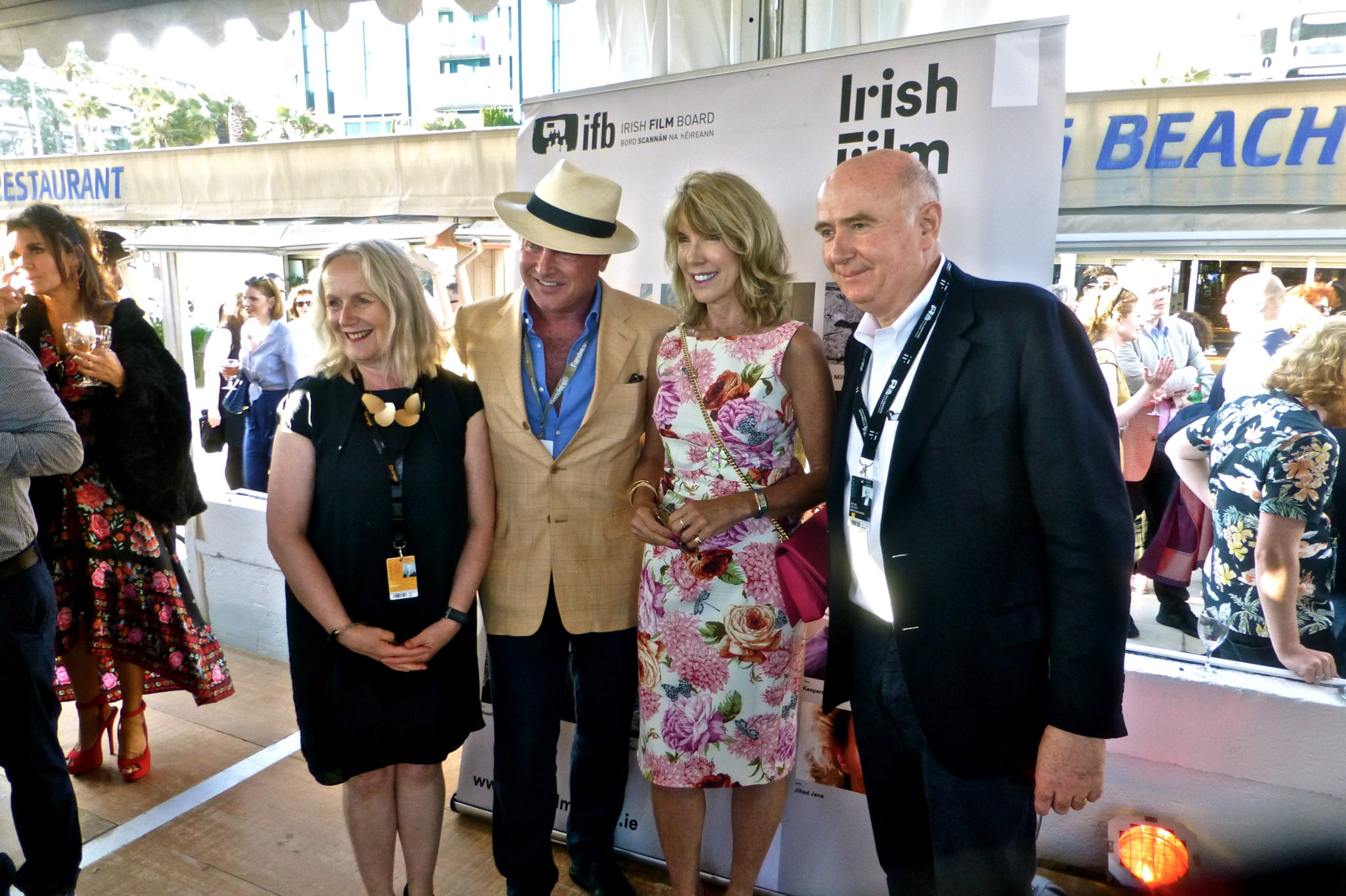 IFB Chair Annie Doona, Michael Flatley, Ambassador Patricia O'Brien, and IFB CEO James Hickey
