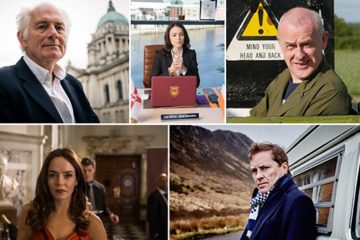 Pictured clockwise: Dan Cruickshank, Karen Hassan, Colin Murphy, Ardal O'Hanlon and Valene Kane.