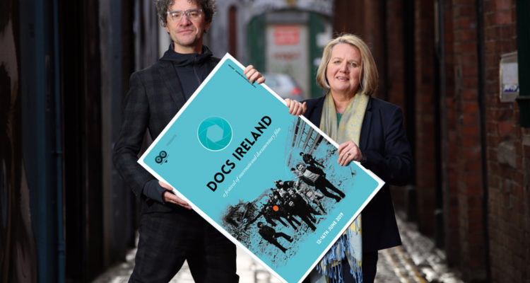 Chair of Docs Ireland, Mark Cousins and Director of Docs Ireland, Michele Devlin launch the new Docs Ireland programme. Press Eye/Darren Kidd
