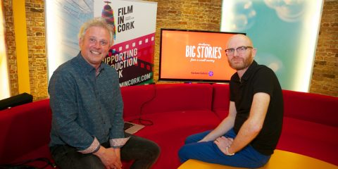 Rossa Mullin, Film In Cork and guest speaker, Paul Young, CEO of Cartoon Saloon, pictured at Film In Cork's Production Club sponsored by the Broadcasting Authority of Ireland (BAI) which took place in RTÉ Cork on Thursday, April 21st.
