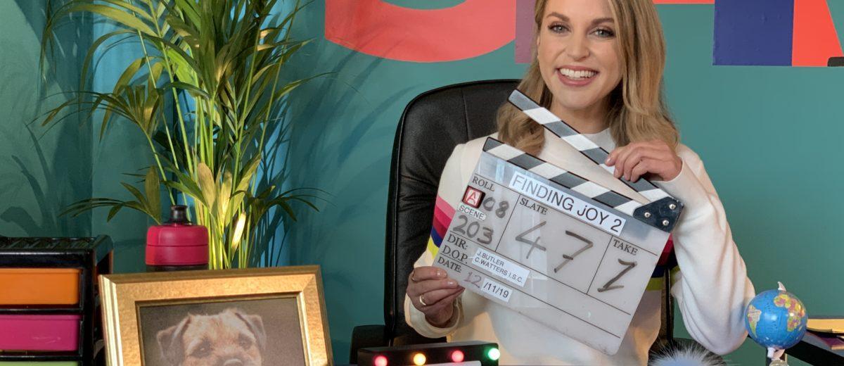 Amy Huberman on set of Finding Joy Series 2