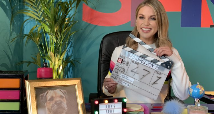 Amy Huberman on set of Finding Joy Series 2