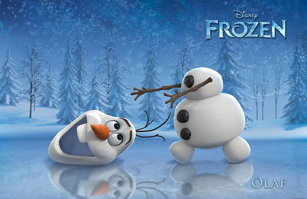 He's Olaf (voice of Josh Gad) and he likes warm hugs. Sprung from Elsa's magical powers, Olaf is by far the friendliest snowman to walk the mountains above Arendelle. His innocence, outgoing personality and uncanny ability to disassemble himself at good and not-so-good times lead to some awkward, albeit laughable moments. He may also have the world's most impossible dream, but what he doesn't know won't melt him—or will it?