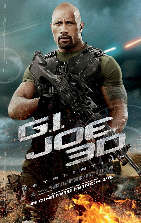 Dwayne Johnson character poster for G.I. JOE: Retaliation ... Gi Joe Retaliation Character Poster