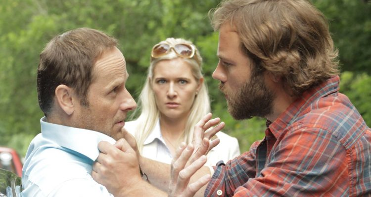 Ronan Leahy, Amy De Bhrun, and Moe Dunford in Gridlock