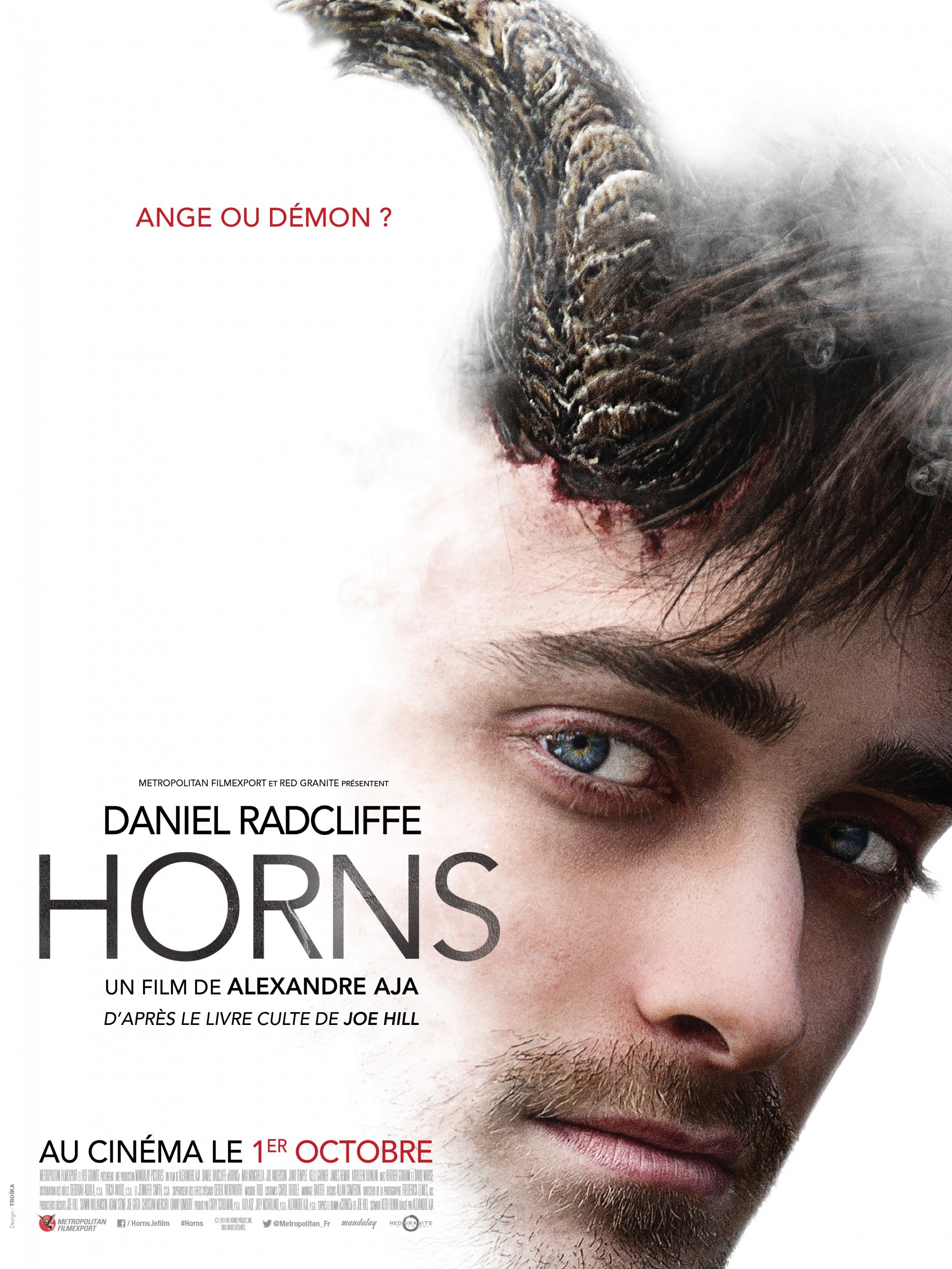 Three impressive posters for Alexandre Aja's Horns - Scannain Horns Movie Poster