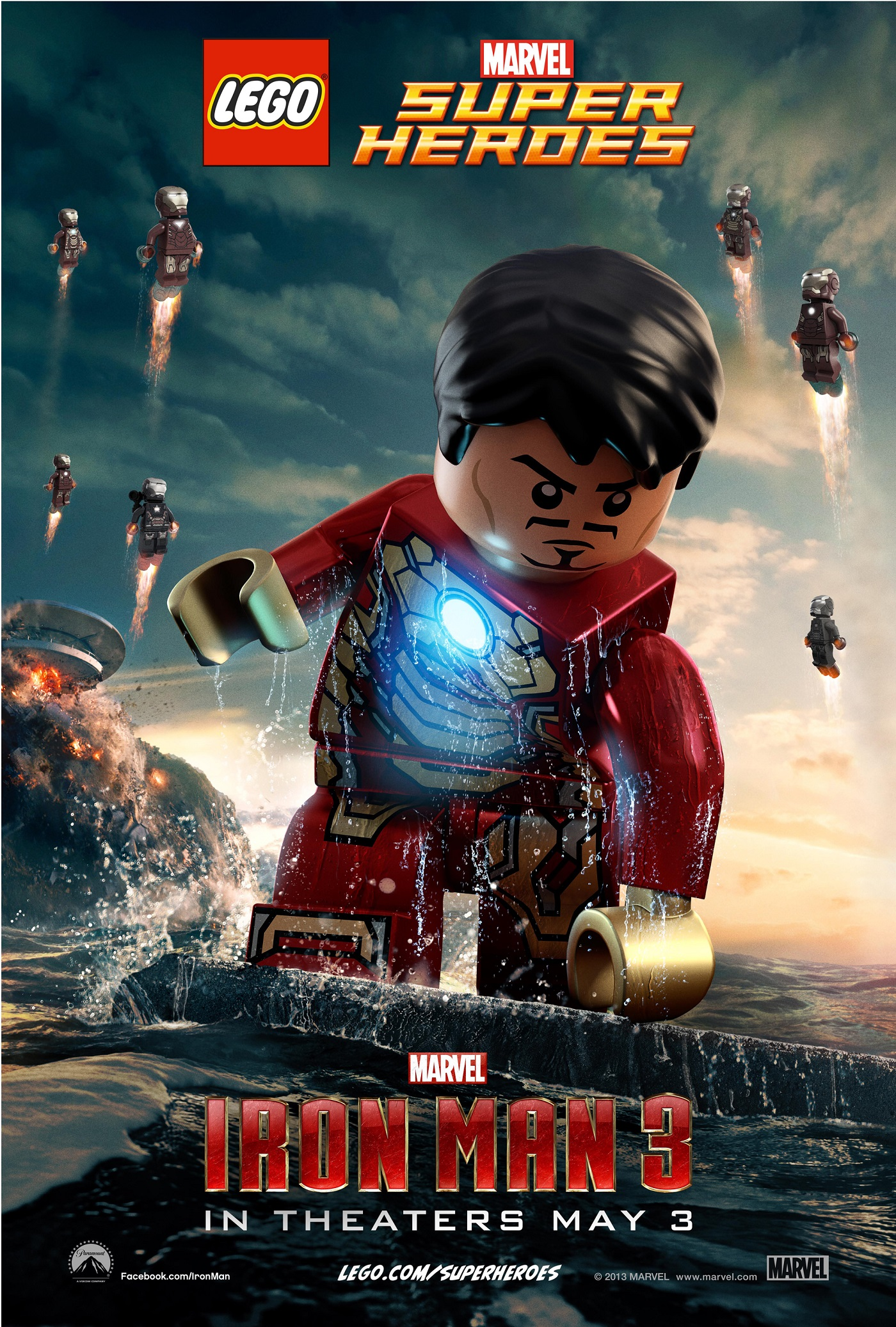 Two cool lego inspired posters for marvel 39 s iron man 3 - Lego iron man 3 ...