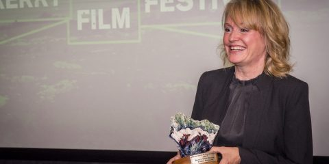 Kerry Film Festival presents the Maureen O'Hara award to 2017 recipient Director and Editor Emer Reynolds at a ceremony in Dublin today. Here, Reynolds is gracious and generous to her colleagues and predecessors during her acceptance speech.