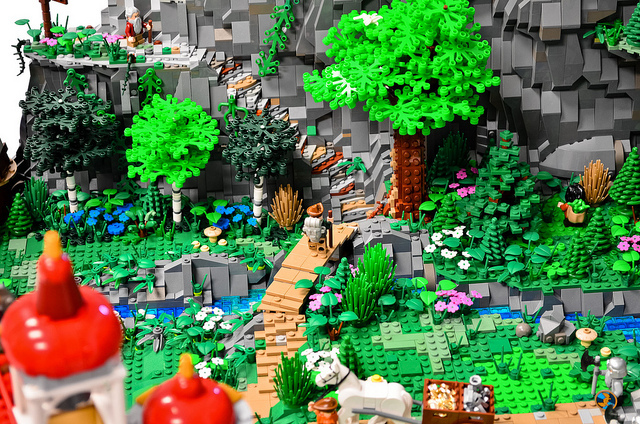 Incredible Lego Scale Replica Of Erebor From Peter Jacksons The