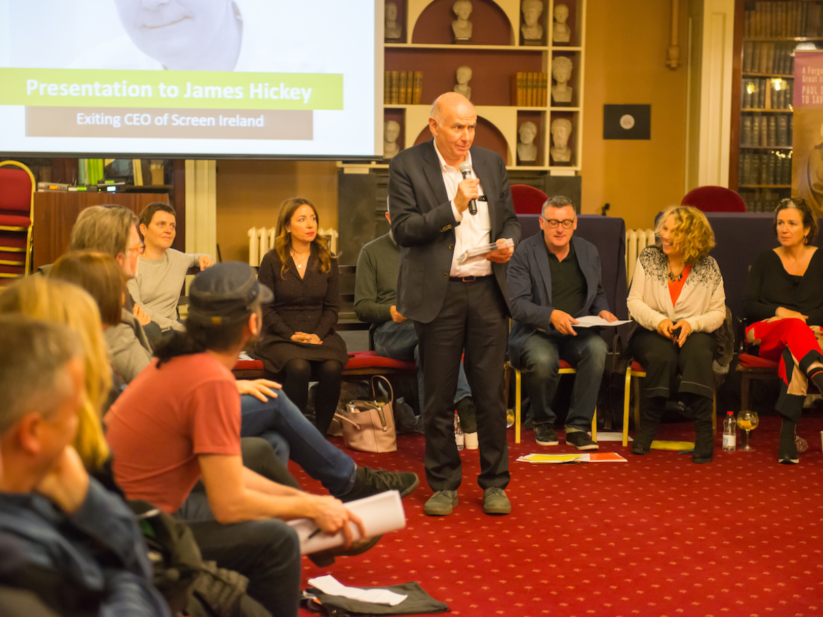 Screen Ireland CEO James Hickey at the SDGI AGM 2019