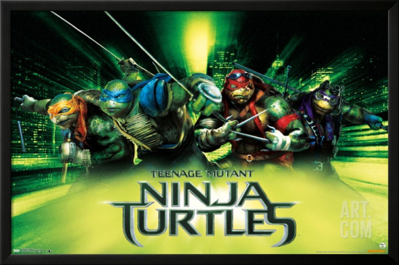 Artistic set of posters for Teenage Mutant Ninja Turtles