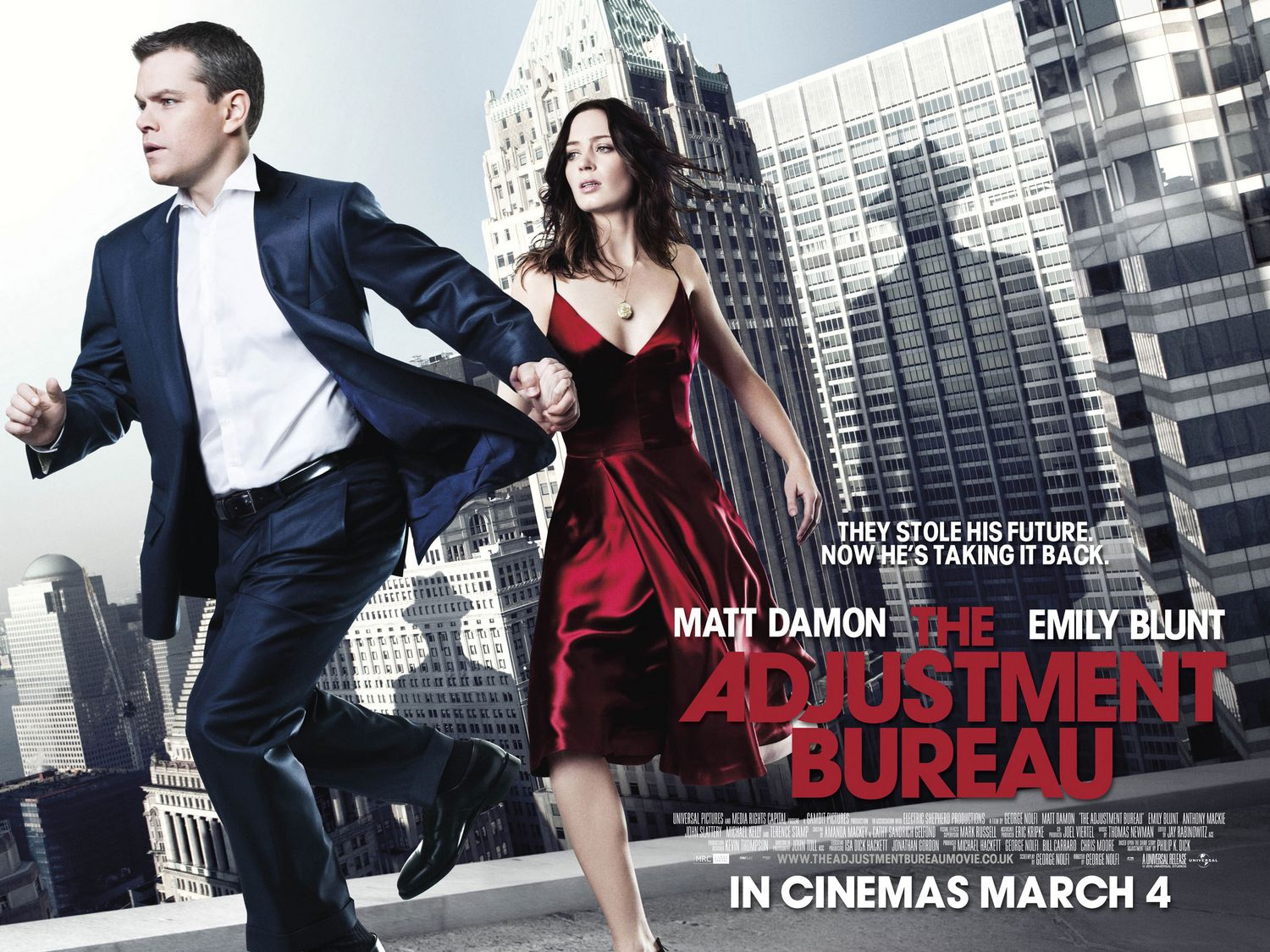 Poor quad poster for The Adjustment Bureau - Scannain