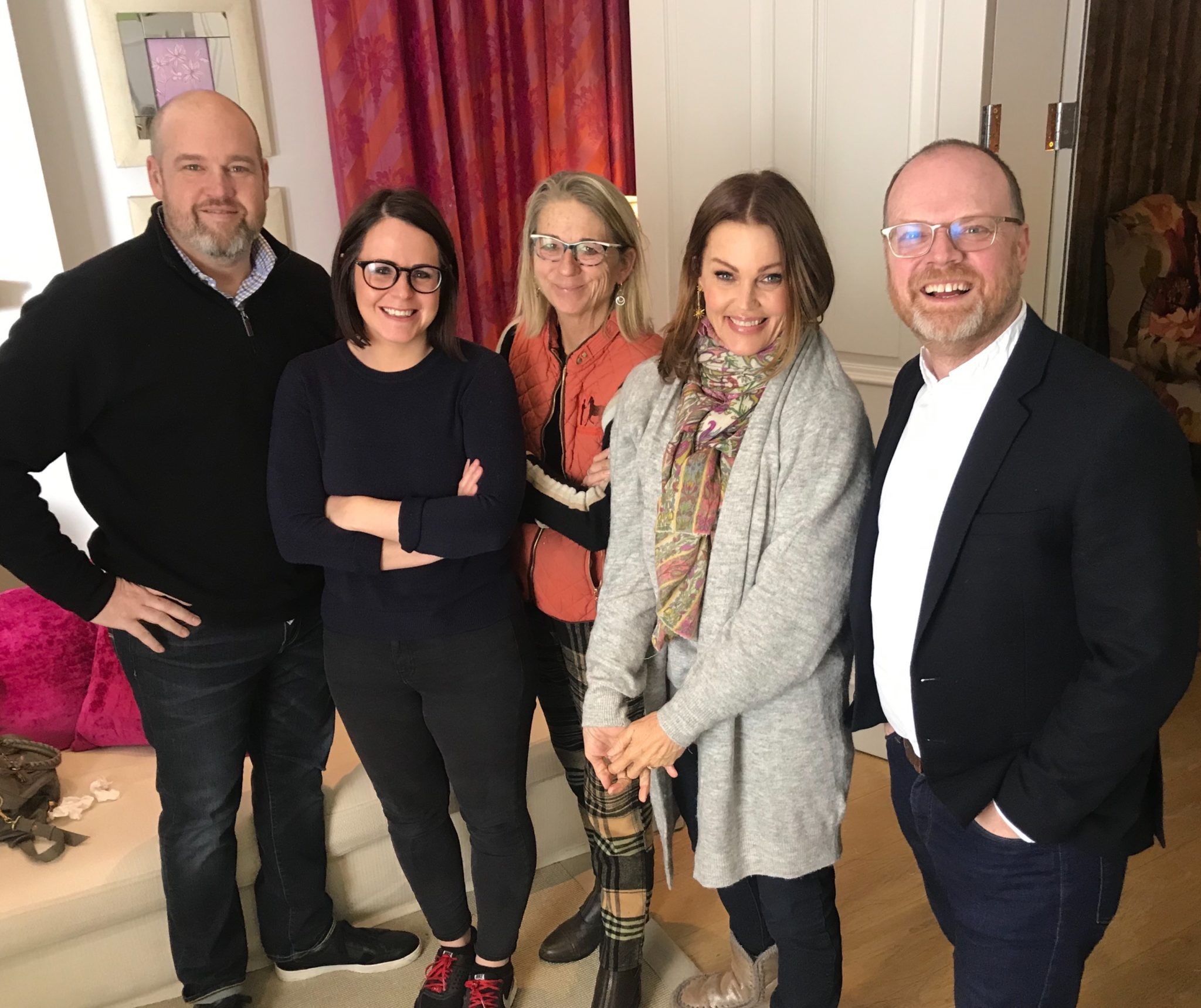 The team behind new documentary on The Go-Gos. From left to right: Corey Russell, Fadoo Productions, Eimhear O'Neill, Fine Point Films, Director Alison Ellwood, Belinda Carlisle and Trevor Birney, Fine Point Films.