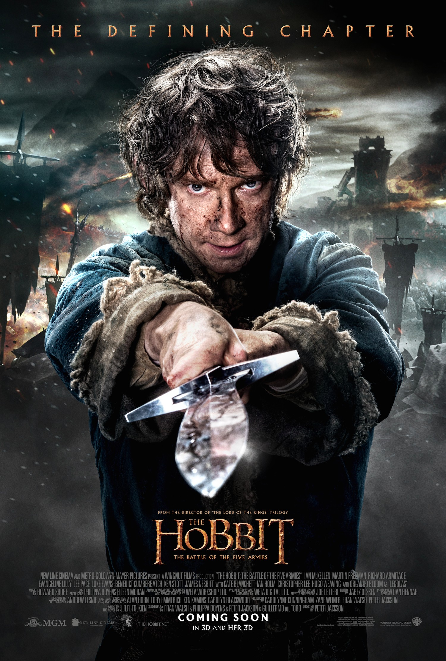 Pointed poster for The Hobbit: The Battle of the Five Armies
