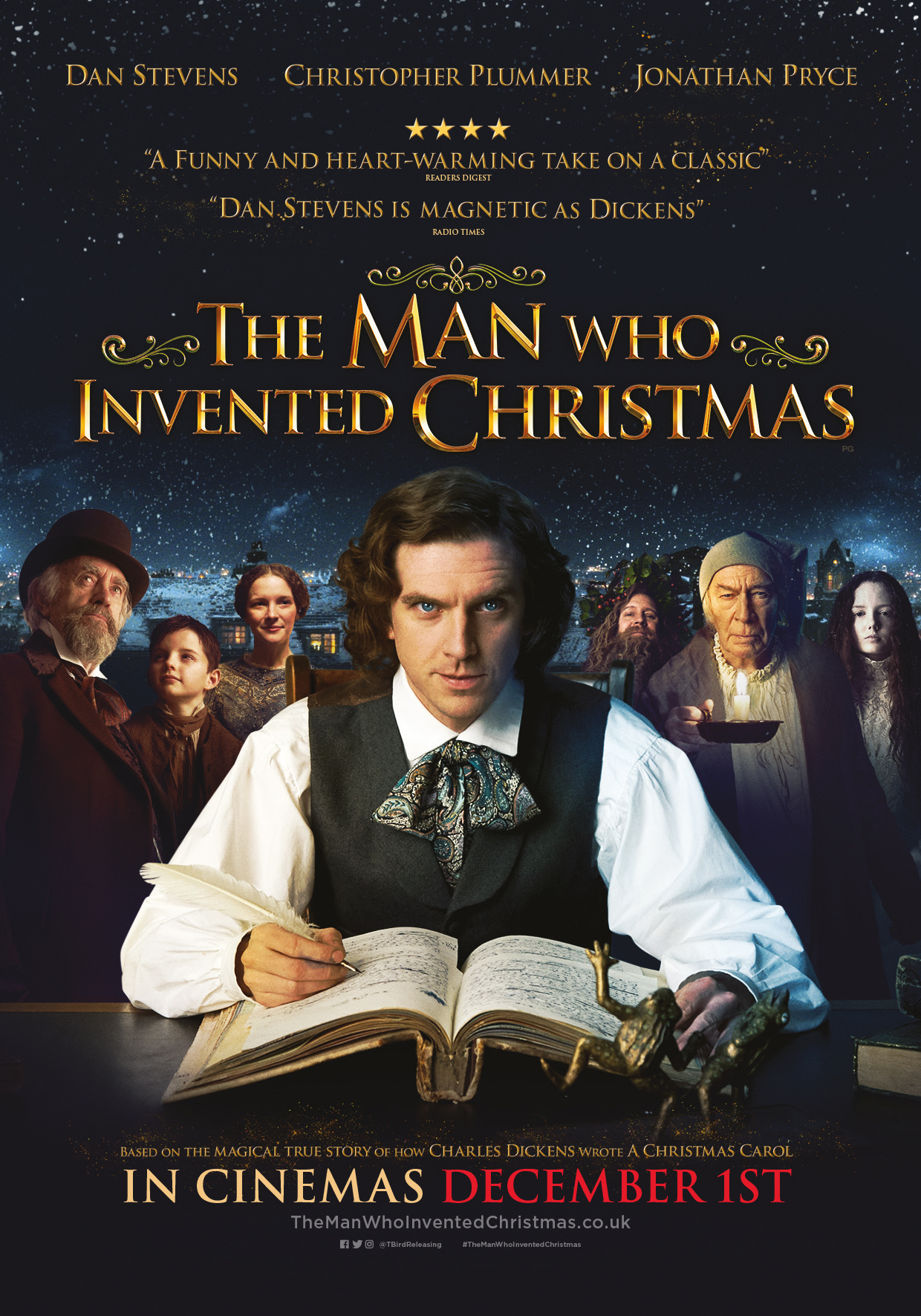 The Man Who Invented Christmas Open In Cinemas December 1st