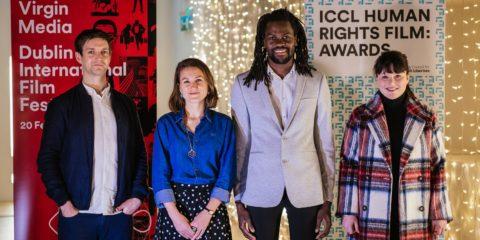 Virgin Media DIFF Dublin Human Rights Film Award 3 - Emmet Kirwan, Sorcha Pollack, Bulelani Mfaco and Aoife Kelleher